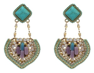 Turquoise & Multi-Color Chandelier Drop Earrings