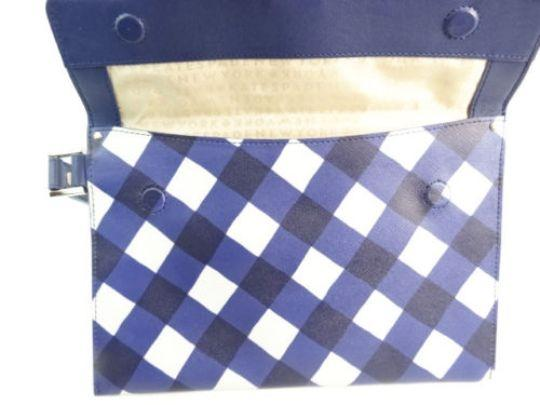 Kate Spade Kate Spade New York Blue Checkered Clutch Wallet NEW