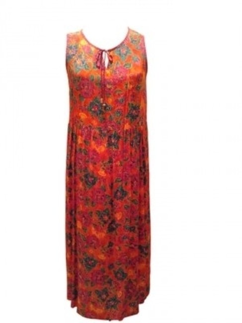 Preload https://item2.tradesy.com/images/carole-little-multi-colored-pattern-sleeveless-maxijumper-long-casual-maxi-dress-size-16-xl-plus-0x-40311-0-0.jpg?width=400&height=650