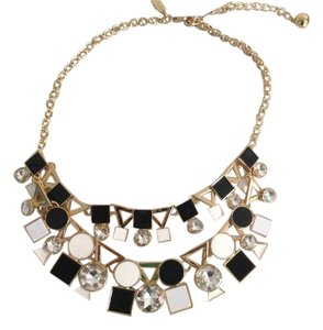 Kate Spade NWT KATE SPADE STATEMENT NECKLACE NEUTRAL MULTI WITH DUST BAG GORGEOUS $128
