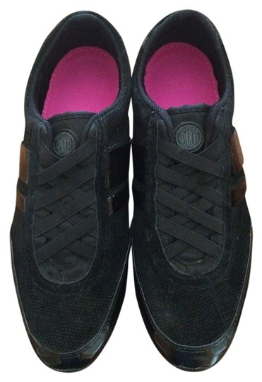 DKNY Patent Leather Leather Tennis 7.5 Black Flats
