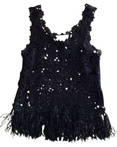 HWR Size Small Crochet Top black