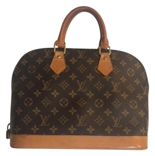 Preload https://item1.tradesy.com/images/louis-vuitton-alma-monogram-canvas-leather-satchel-4032625-0-0.jpg?width=440&height=440