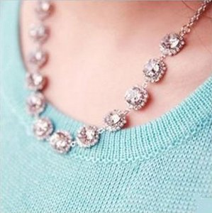 Crystal Jewel Statement Necklace - Bridal Bridesmaid Wedding - New!