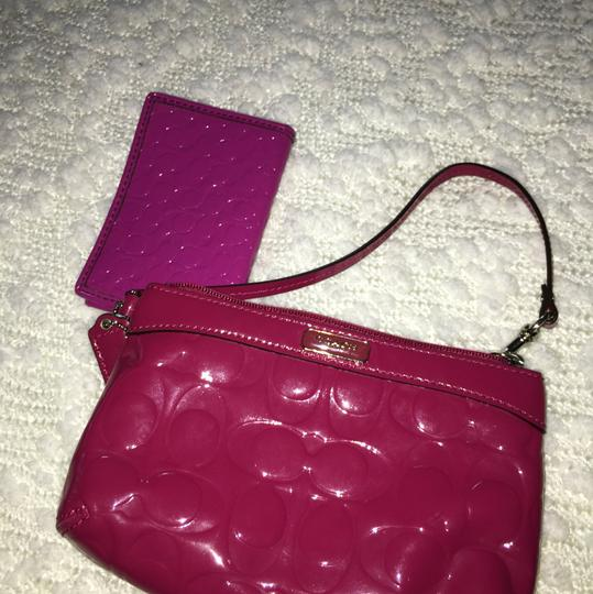 Coach Large Signature Wristlet & Matching Wallet