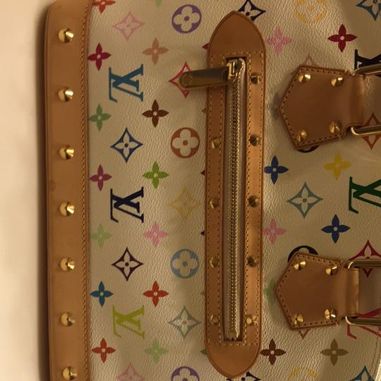 Louis Vuitton Satchel in White Murakami Multicolor