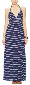 NWT Navy and white Maxi Dress by T-Bags Los Angeles Summer Maxi Halter Stripes