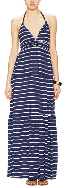Preload https://item3.tradesy.com/images/t-bags-los-angeles-summer-maxi-halter-stripes-maxi-dress-navy-and-white-4033702-0-0.jpg?width=400&height=650