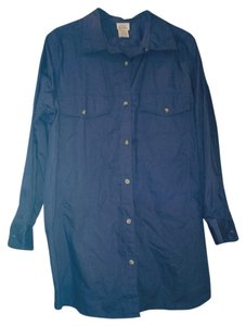 Only Necessities Button Down Shirt Blue