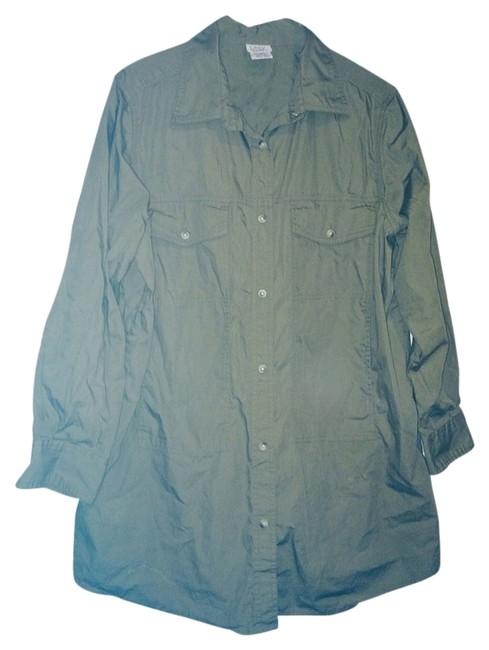 Only Necessities Button Down Shirt Green