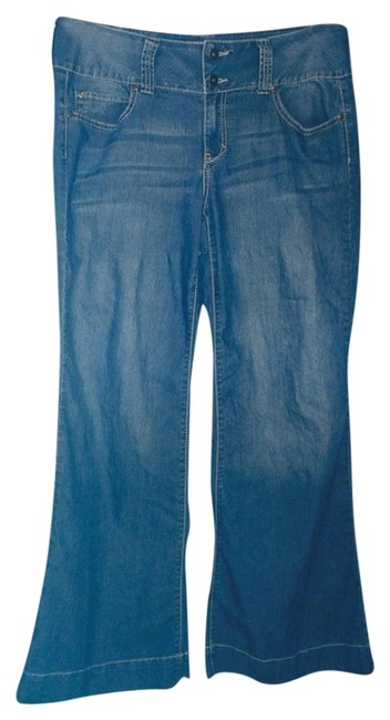 Apt. 9 Trouser/Wide Leg Jeans-Distressed