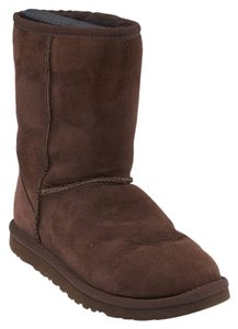 UGG Australia Mid-calf Leather Suede Chocolate Brown Boots