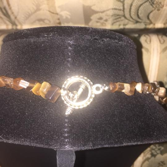 Other Brown stone multi strand necklace