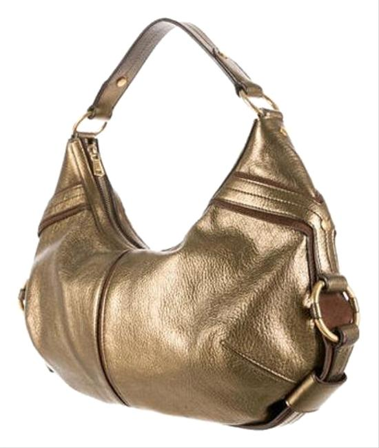 Item - Ysl Yves Rive Gauche Metalic Gold Leather Hobo Bag