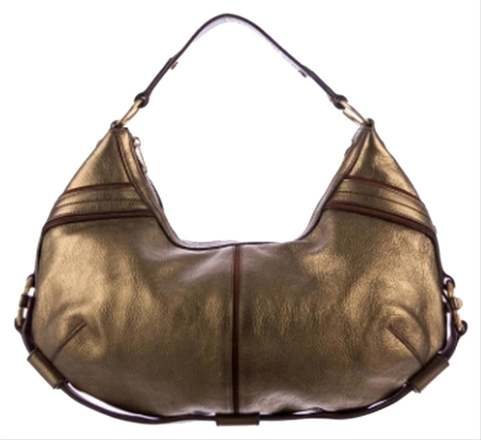 yves st laurent handbags sale - Saint Laurent Ysl Metallic Leather Vintagegold Hobo Bag on Sale ...