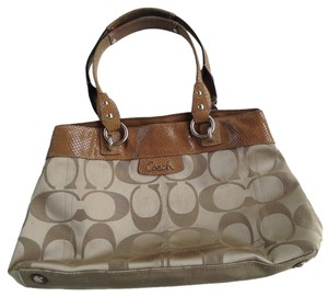 Coach Shopper Satchel in tan