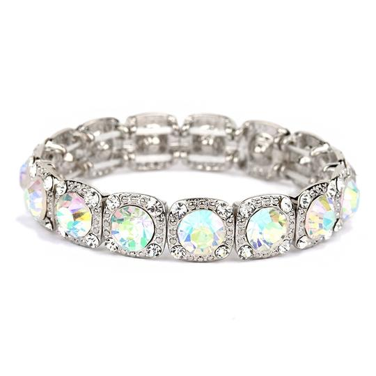 Mariell Best-selling Bridal Or Prom Stretch Bracelet With Ab Solitaires 532b-a
