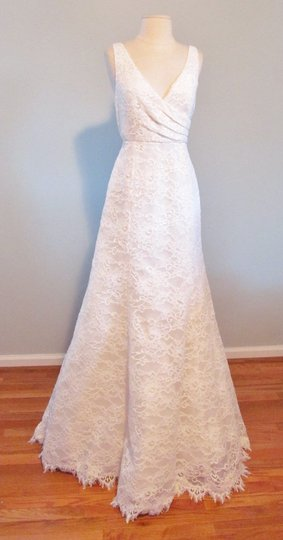J.Crew Ivory Sara Lace Gown Feminine Wedding Dress Size 2 (XS)