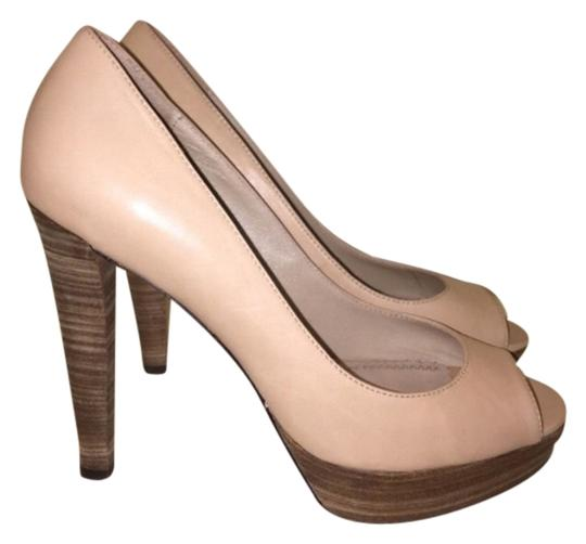 Jean-Michel Cazabat Nude Tan Pumps