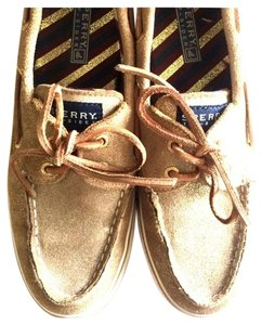 Sperry Sparkle Casual Gold Shimmer Flats