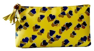Gucci Pouch Leather Hearts Yellow Clutch