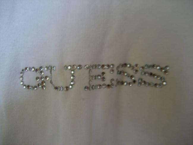 Guess Longsleeve Studded T Shirt white