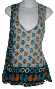 SUNO Sheer Kenyan Print Top Multi-Color
