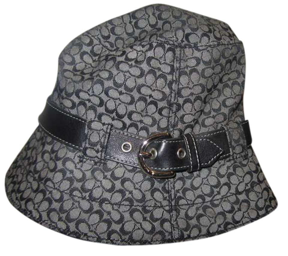 f355dc58d Coach Black Signature Bucket Small Hat 70% off retail