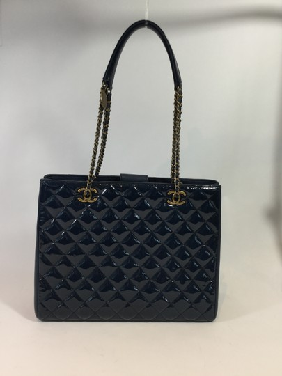 Chanel Shopping Large Tote in Navy Blue