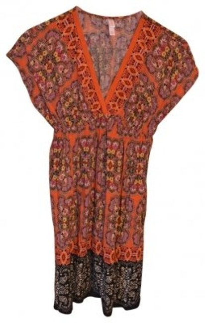 Preload https://item1.tradesy.com/images/xhilaration-orange-boho-print-v-neck-above-knee-short-casual-dress-size-2-xs-40355-0-0.jpg?width=400&height=650