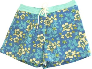 Fashion Bug Nylon Flower Board Shorts Blue, Aqua Multi