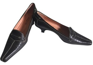 Battaglia Made In Italy Leather Dark Brown Pumps