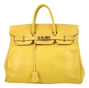 Herms Satchel in Yellow