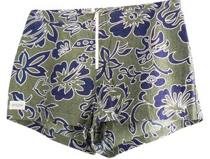 Speedo Flowered Board Shorts Khaki and Navy