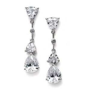 Mariell Cubic Zirconia Multi Shaped Dangle Earrings 679e