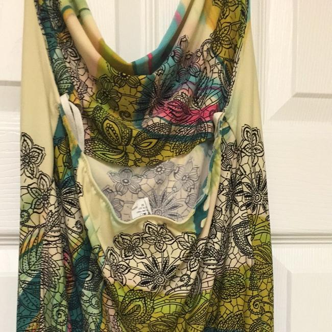 Wet Seal Multi Colored With Yellow,pink,blue,green,black Halter Top