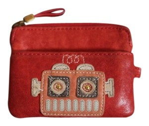 Fossil Leather Robot change purse/wallet