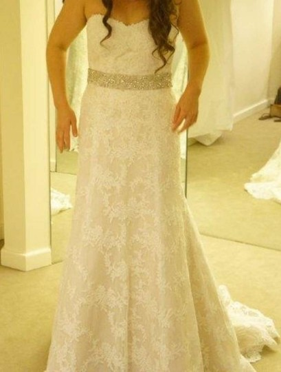 Ivory Intricate Floral with Crystals and Beading Sash