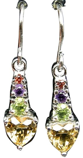 Preload https://item2.tradesy.com/images/multicolor-natural-citrine-peridot-amethyst-and-garnet-925-sterling-silver-earrings-4036546-0-0.jpg?width=440&height=440