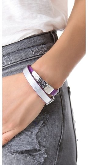 Marc by Marc Jacobs Standard Supply Double Wrap Bracelet in silver purple