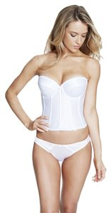 Dominique Dominique Satin Longline Bridal Bra 7750 White Size DD