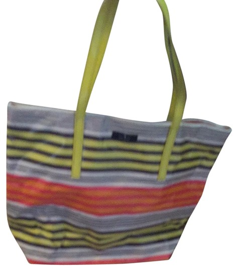 Preload https://item4.tradesy.com/images/kate-spade-yellow-gray-pink-orange-and-white-stripes-vinyl-treated-cloth-tote-4036798-0-0.jpg?width=440&height=440