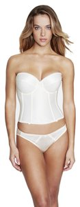 Dominique Dominique Satin Longline Bridal Bra 7750 Ivory Size 34DD
