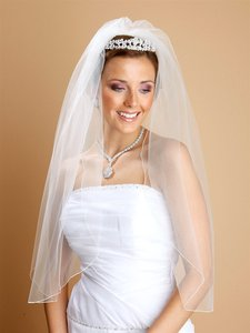 Mariell One Layer Bridal Veils With Pencil Edging 938v-30-dw
