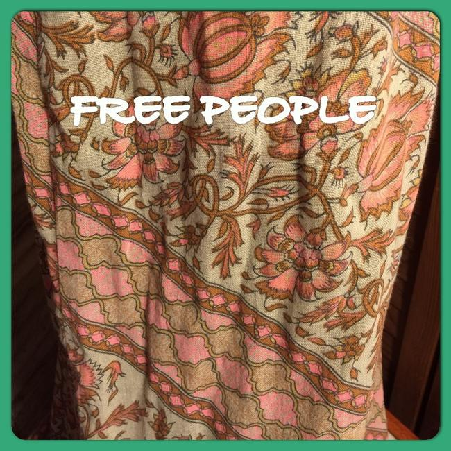 Free People Skirt GREEN PINK CORAL