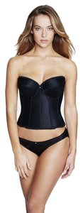 Dominique Dominique Satin Longline Bridal Bra 7750 Black Size C