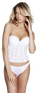 Dominique Dominique Pushup Longline Bridal Bra 7759 White Size B