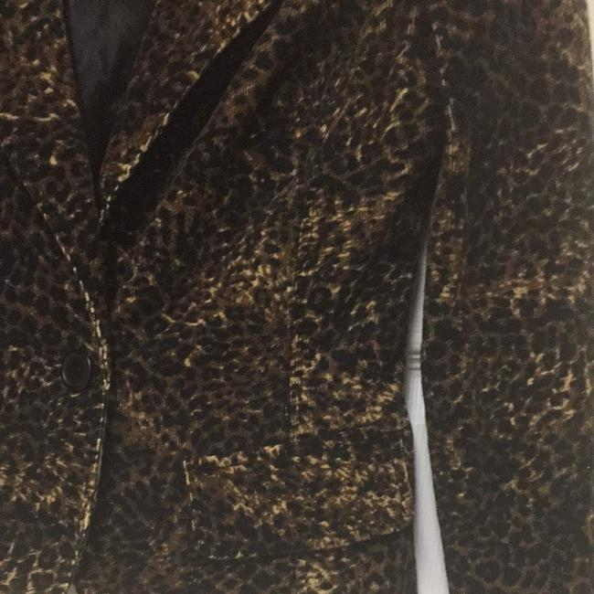 0 Degrees Brown/ Gold Animal Print Blazer