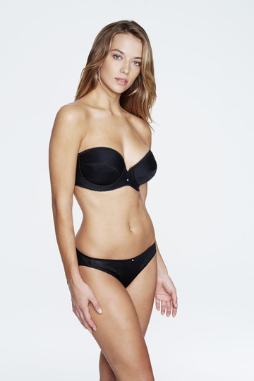 Dominique Dominique Low Plunge Strapless Bra 8103 Black Size D