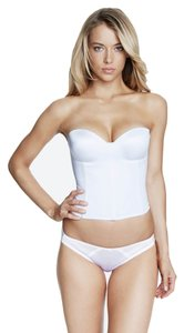 Dominique Dominique Hidden Underwire Longline Bridal Bra 8541 White Size DD